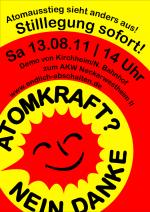 13.08. Demo Plakat